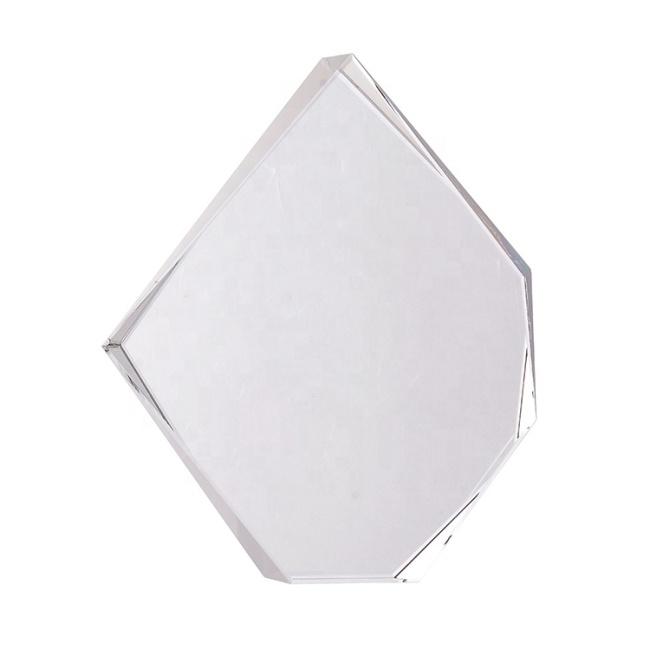 2020 Custom Top Quality Promotion Blank Polygonal Crystal Trophy And Award For Business Gifts