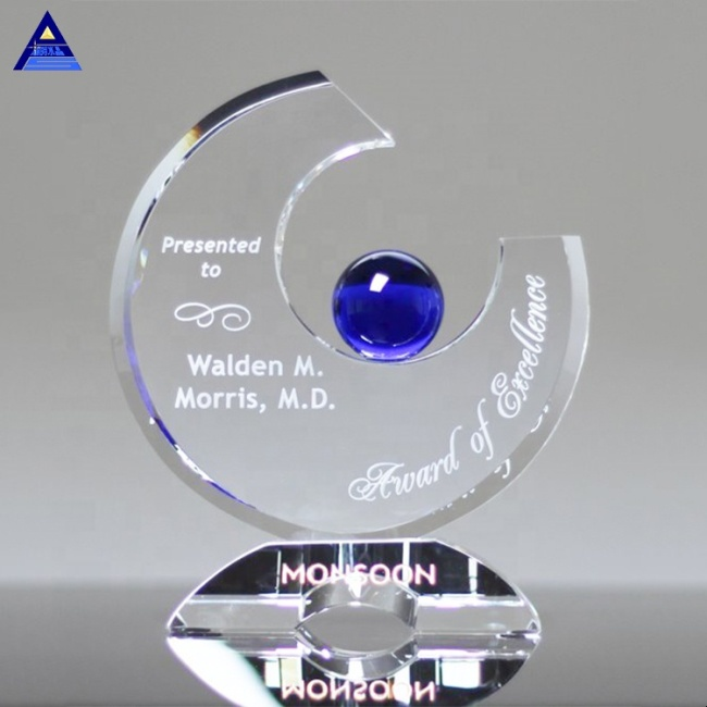 Wholesale Cheap Hot Sale Chalcee Crystal Glass Award Trophy