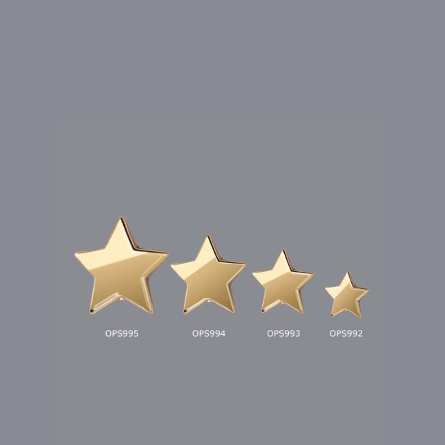 New design Laser engraving cheap Wholesale gold  Silver metal star award  trophy