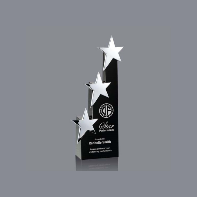 Hot Sale Wholesale Medal Crystal Star Shaped Award Custom Clear Diamond Crystal Trophy Award