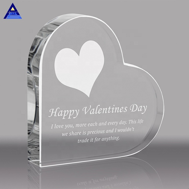 Beautiful Cheap Heart Shape Crystal Glass Paper Weight