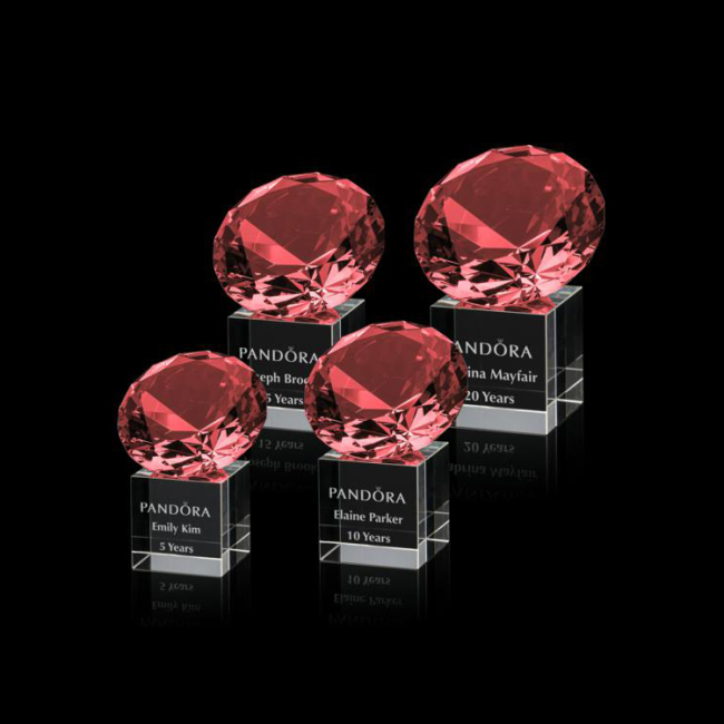 Wholesale custom red K9 three-dimensional decoration clear transparent diamond crystal award