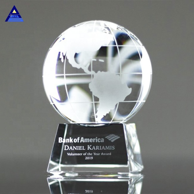 2019 Newest Glass Globe Awards- -No.1 Crystal Trophy Factory