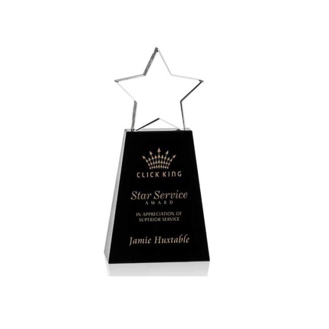 china zhejiang Wholesale custom glass star award crystal trophy