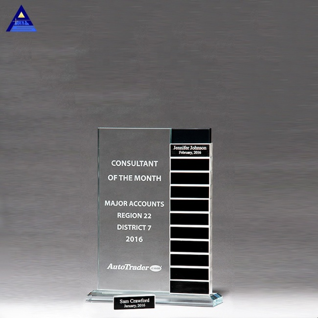 2019 China Factory K9 Crystal Glass Award Blanks,Perpetual Creative Glass Trophy