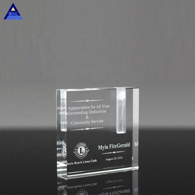 Wholesale Faceted Optical Crystal Bud Vase Retirement Gift For Crystal Award