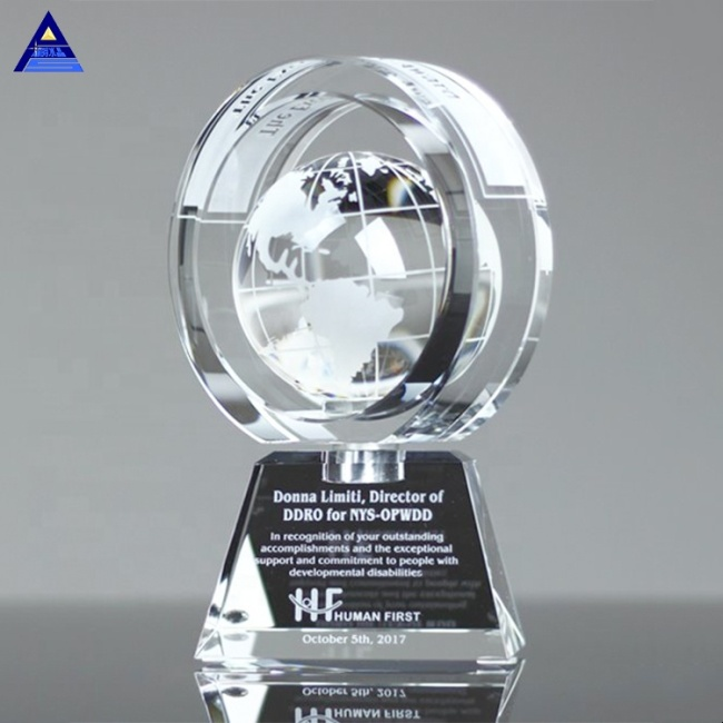 Hot Sale Wholesale Crystal Spheres Earth Globe Hand-Painted Crystal Ball For Wedding Favors