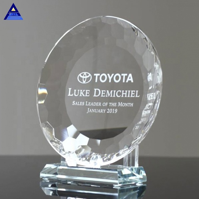 Hot Sale Custom Various Executive Crystal Plate Awards And Trophies For Souvenir Gift