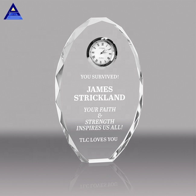 Executive Gifts Crystal Oval Desk Clock
