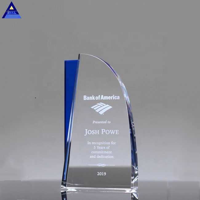 2019 Newest Personalized Fashion Glass Award Plaques Crystal Crystal Plaque For Business Gift