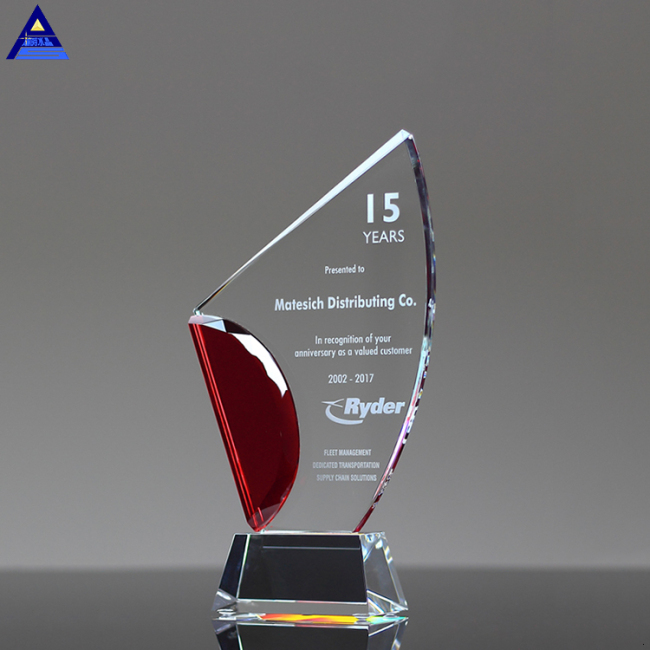 Custom Sublimation 3D Clear Glass Crystal Blank Awards With Logo