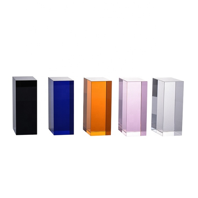 New 2020 Factory Clear Crystal And Customized Colored Glass Block Blank Cube