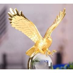 NEW K9 Material Metal Eagle Crystal Trophy Award Sublimation Award Crystal Trophy Cup