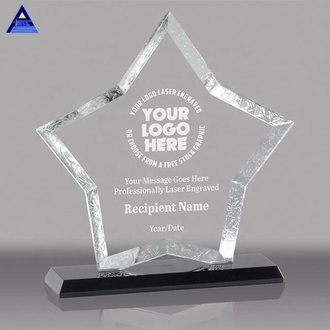 China Heavyweight Crystal Arch Star Shaped Award Trophy Crafts