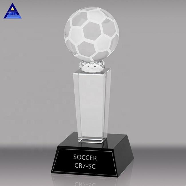 K9 Crystal Golf Trophy Crystal Soccer Ball Sports Souvenir Trophies Basketball and Football Trophy
