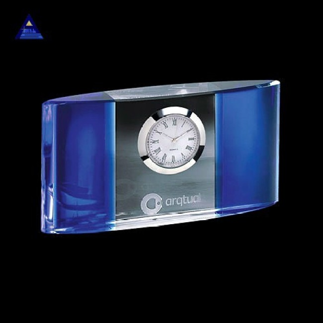 Hot sell wedding souvenirs crystal clocks- -NO.1 Crystal Trophy Factory