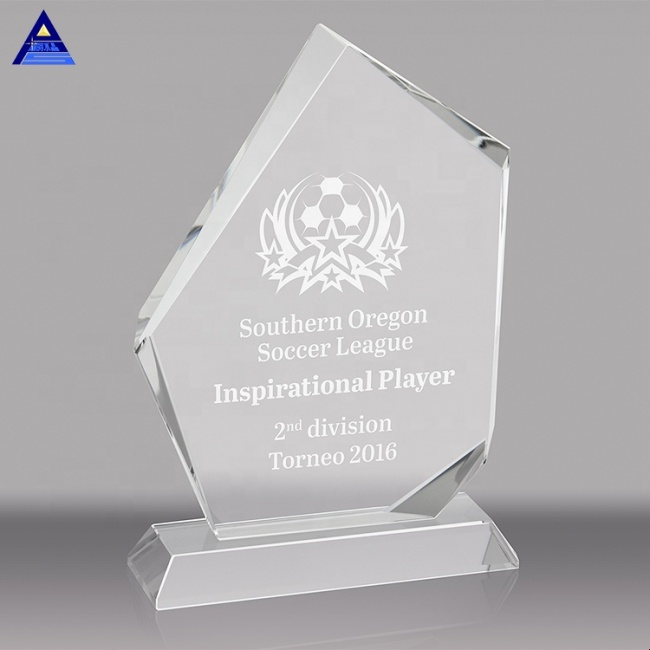 Cheap Glass Custom Shaped Crystal Awards And Trophies