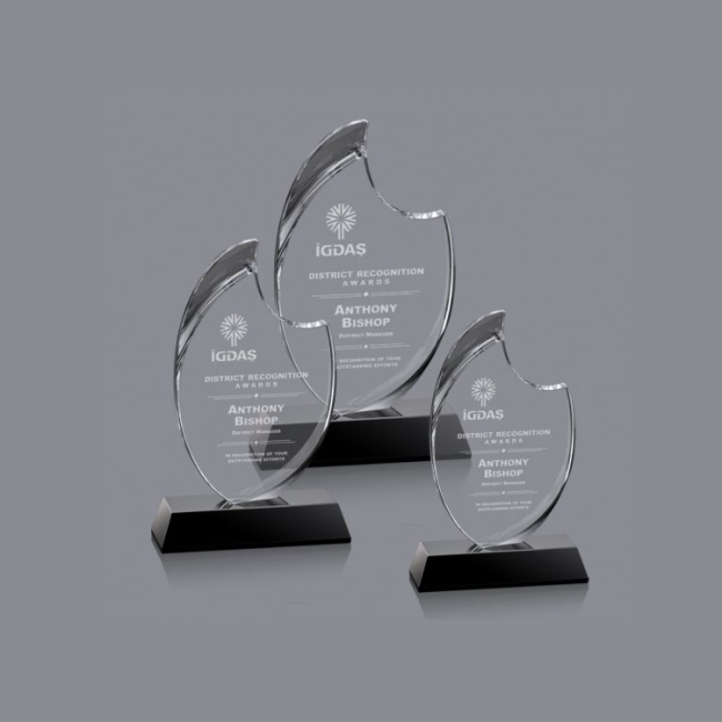 wholesale crystal trophy latest design custom made crystal trophy
