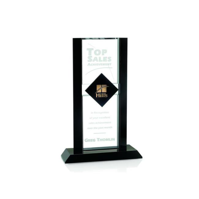 2020 New Design Crystal Curved Trophy Plaque Glass  Top Sale Crystal Trophy Award