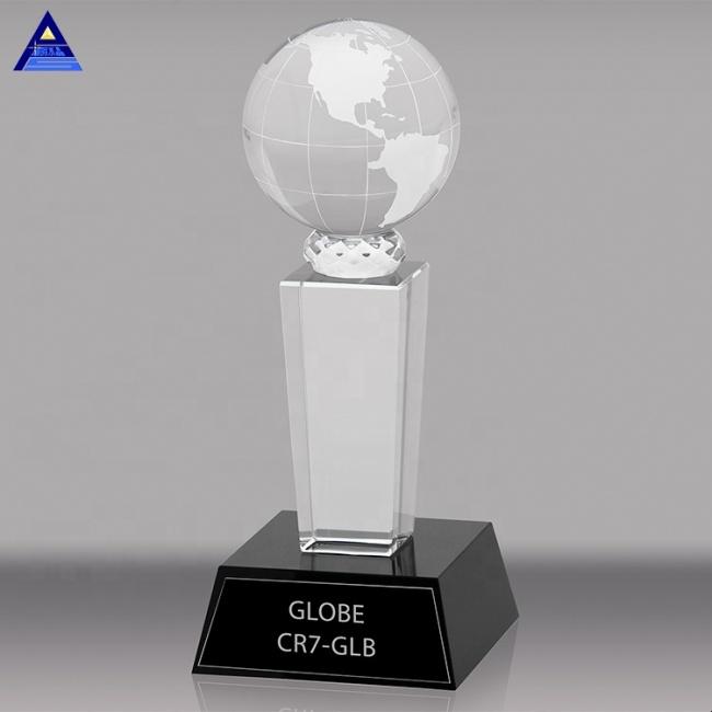 Fashion Soccer Basketball Table Tennis With Custom Logo Printed Crystal Trophy Awards