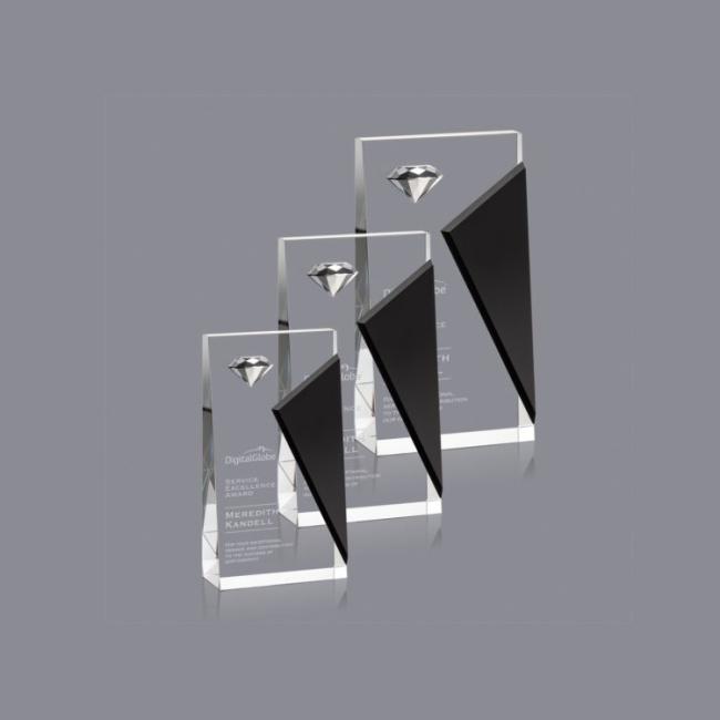 Wholesale Cheap Personalized Custom K9 Business Diamond Shape Crystal Award