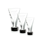New Design Personalized Handmade Blank Trophy Crystal Engraving Plaque with Black Base