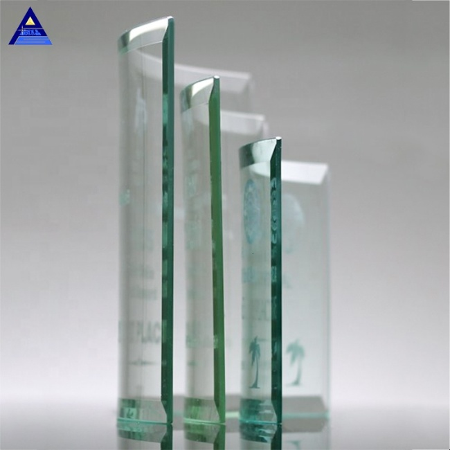 Crystal Block 3D Laser Engraving Jade Crystal Glass Awards With Best Price