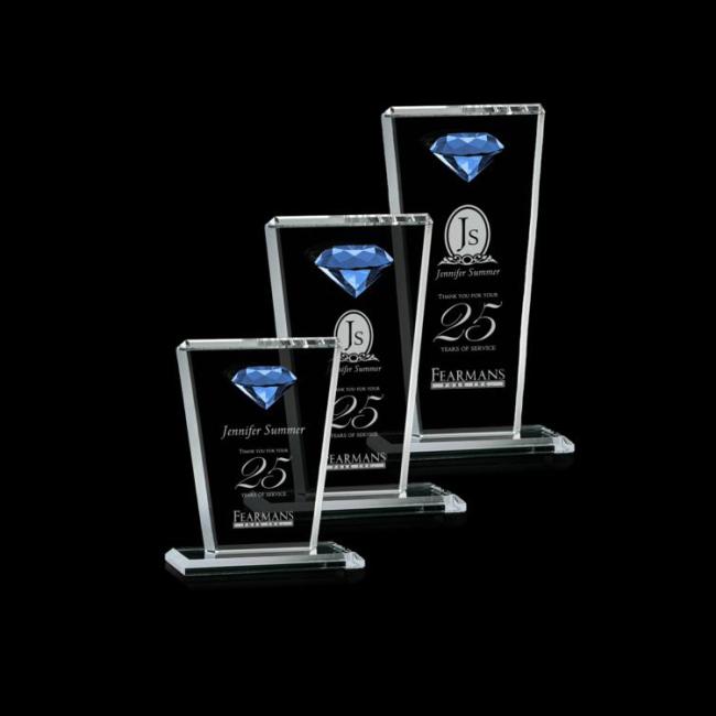2020 New Fashion Customized Pujiang K9 Transparent Diamond Crystal Award