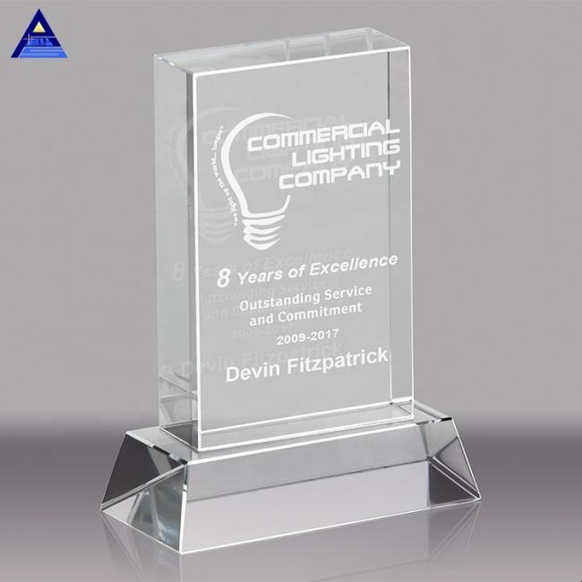 Custom crystal trophy glass, crystal glass trophy