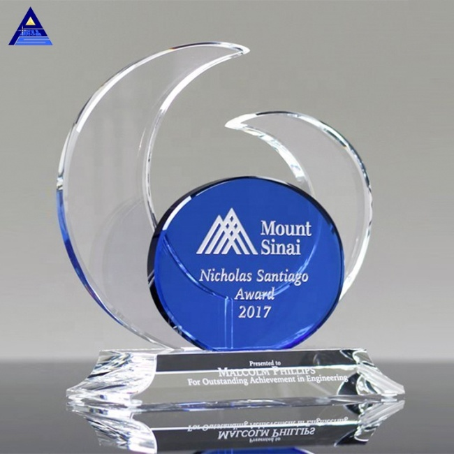 Wholesale Cheap Elliptic Crystal Award Trophy With Engraved Logo