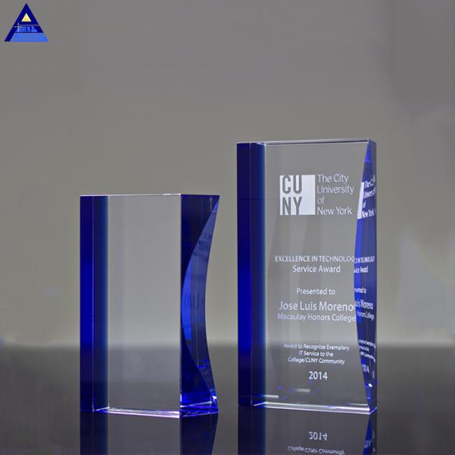 Wholesale Price New Arrival Custom Logo K9 Engravable Crystal Award