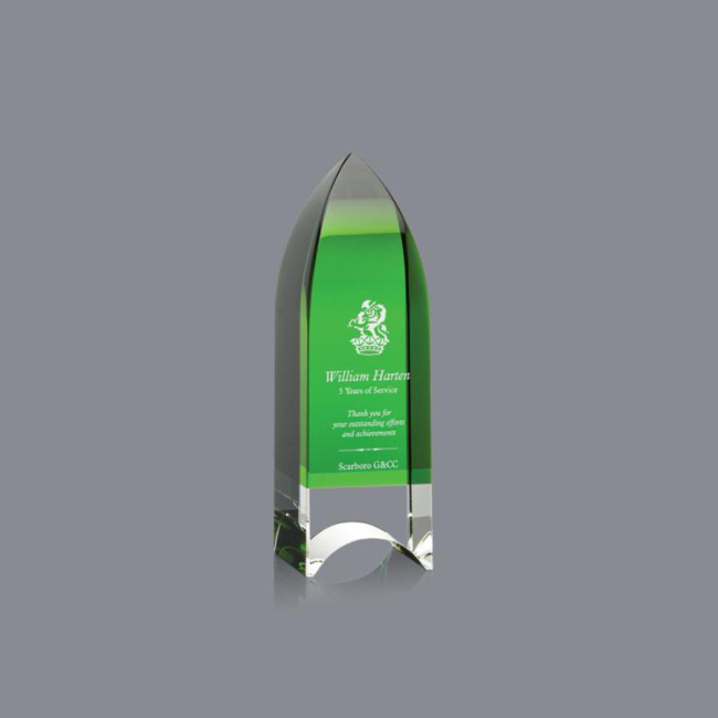 Factory Price Colors Crystal Pillar Obelisk Trophy And Radiant Obelisk Award For Annual Award