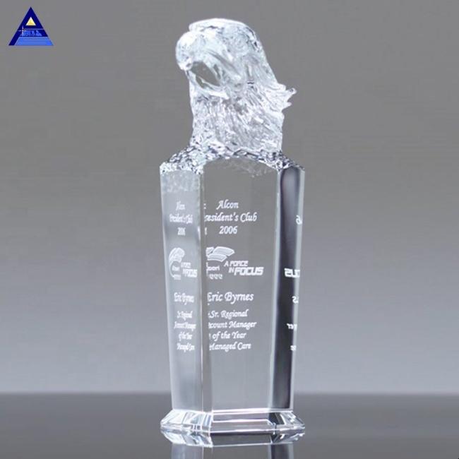 Sky Master Crystal Flying Eagle Trophy For Leap Progress