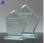 Factory Wholesale Customized Logo Jewel Beveled Jade Glass Crystal Award Trophy For Sublimation