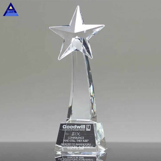 Wedding Gift Crystal Glass Star Award Trophy Wholesale Gift Or Home Decorations