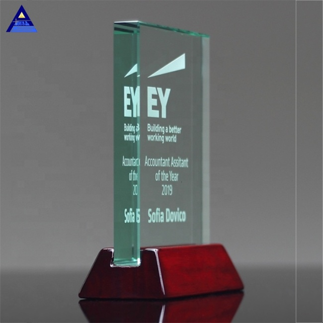 Fengshi High Quality Clear Crystal Glass Trophy Award for Engraving