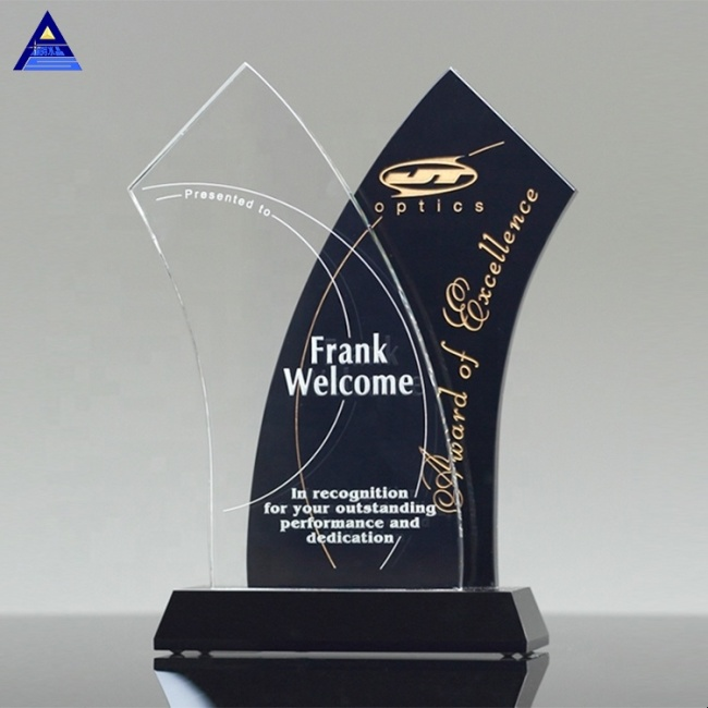 High Quality Tuxedo Wave Crystal Cup Trophies And Awards With Wholesales Price