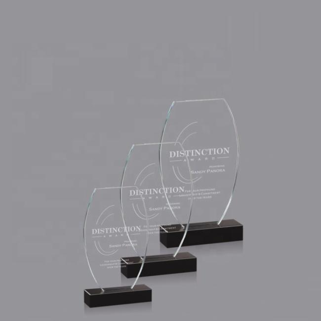 Wholesale Custom Clear Crystal Trophy Awards And Acrylic Crystal Plaque For Souvenir