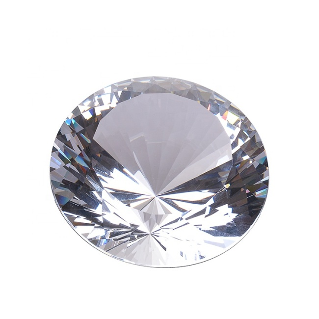 Wholesale Clear K9 Glass Crystal Diamond Paperweight For Wedding Return Souvenir Gifts