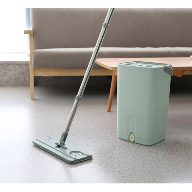 Mini Hands-free squeeze flat mop bucket