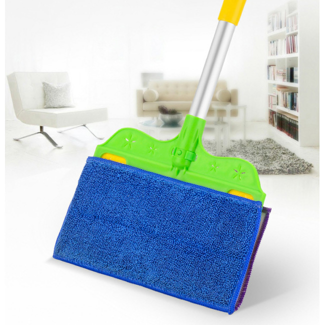 2 in 1 floor cleaning tools double sided microfiber broom mop for dust clean and wet mop