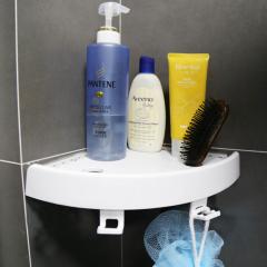 Self Adhesive Plastic Bathroom Magic Corner Shelf Kitchen Bathroom Waterproof Shower Shelf