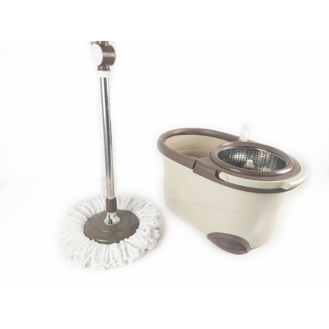 Household plastic floor cleaning mop- magic spin mop with bucket with super dry feature