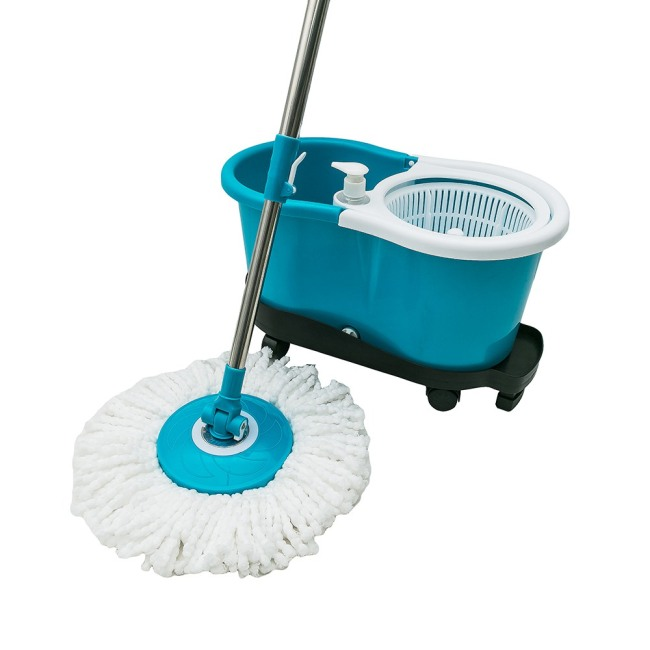 Floor cleaning hand press magic mop assemble 360 spin magic mop