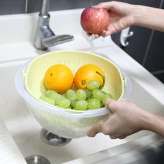Kitchenware Eco-friendly Plastic Rotatable Drain Basket Fruit Vegetable Food Colander