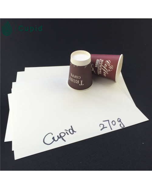 270 gsm pe coated paper cup in sheet