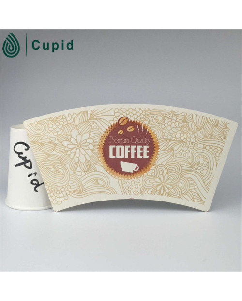 New design Cut printed pe coated paper cup fan