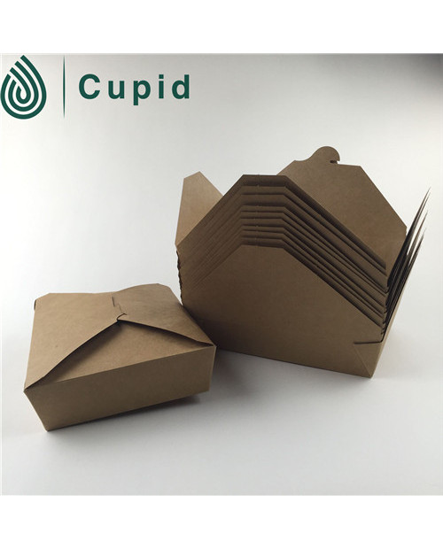 Custom logo printed disposable fast food paper box
