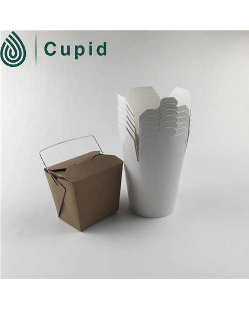 Disposable paper take away noodle box
