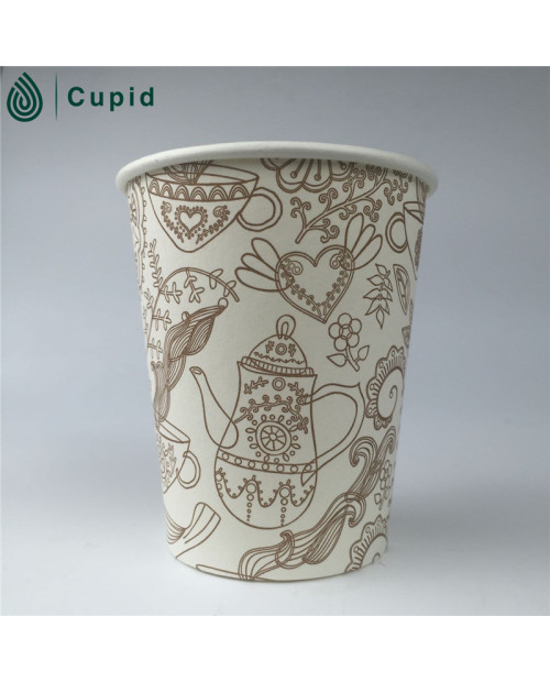 Single wall coffee to go paper cup for vending machine